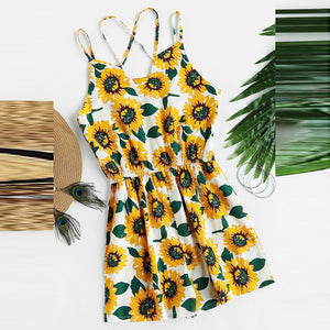 Halter Cross Vacation Casual Jumpsuit