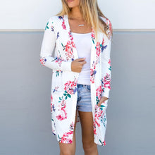 Loose Floral Printed Beach Vacation Cardigan