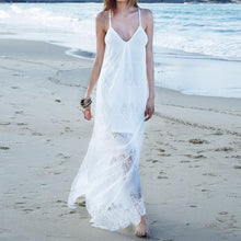 Sexy Lace V-Neck Beach Vacation Dress
