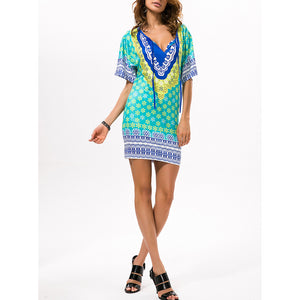 Sexy Leopard Fashion Beach Vacation Dress