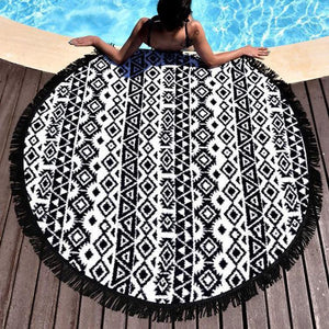 Ethnic Printed Beach Round Towel
