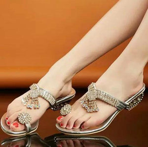 Bohemian  Low Heeled  PU  Casual Sandals