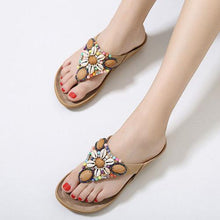 Bohemian  Flat  Faux Leather  Casual Sandals
