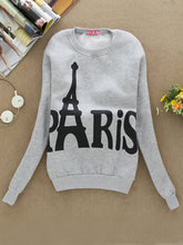 Casual Round Neck  Printed Hoodie