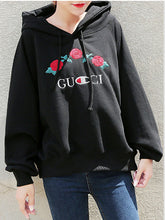 Floral Plain  Raglan Sleeve  Long Sleeve Hoodies