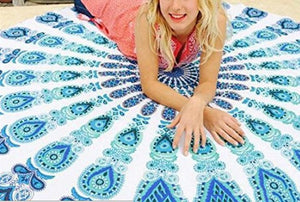 Polyester Shawl Round Beach Towel