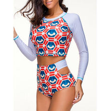 High Waist Long Sleeve Wireless Swimwear Surfing Wetsuit