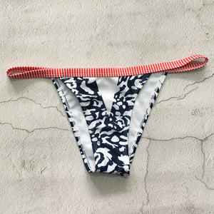 Printed Swimsuit Striped Bikini