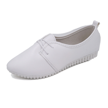 Plain  Faux Leather  Criss Cross  Point Toe  Casual Flat & Loafers