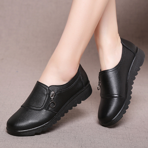 Plain  Flat  Faux Leather  Round Toe  Casual Flat & Loafers
