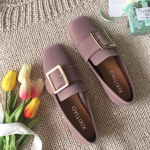 Plain  Flat  Faux Suede  Casual Flat & Loafers