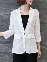 Single Button  Plain  Half Sleeve Blazers