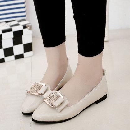 Flat  PU  Point Toe  Casual Flat & Loafers