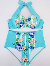 Blue Printed Bikini For Women