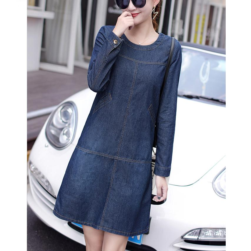 Plus Size Sexy Sleeve Denim Dress