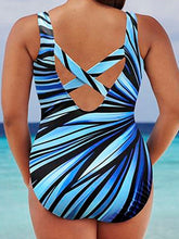 Abstract Print Plus Size Beachwear
