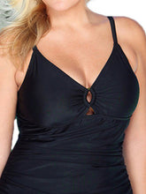 Spaghetti Strap  Plain Plus Size Swimwear
