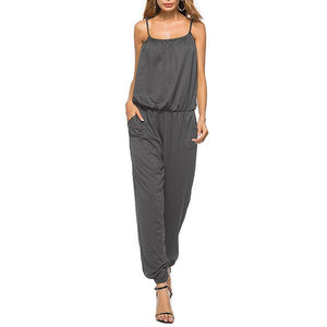 New Loose European And American Ladies Suspenders Jumpsuit