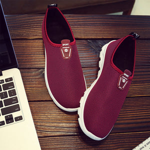 Plain  Flat  Round Toe Sneakers