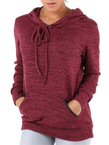 Autumn Spring  Polyester  Plain  Long Sleeve Hoodies