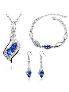 Faux Crystal Elegant Jewelry Sets For Women