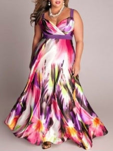 Colorful Printed Plus Size Midi & Maxi Dresses