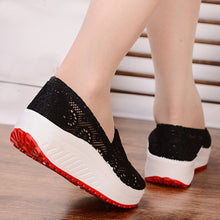 Mid Heeled  Round Toe  Casual Sneakers
