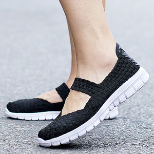 Flat  Ankle Strap  Round Toe  Casual Sneakers