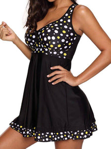 Plain Polka Dot One Piece For Women