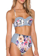 Lightweight  Abstract Print  High-Rise Bikini
