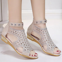 Hollow Out  Flat  Ankle Strap  Peep Toe  Beach Date Sandals