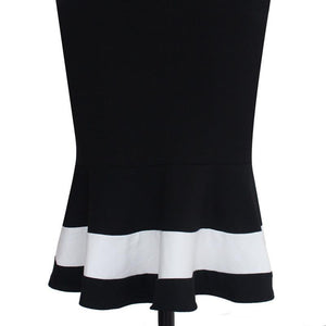 Sexy Sleeveless Square Collar Slim Work Dress