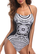 Lightweight  High Stretch  Abstract Print Bleached One Piece