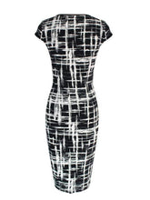 Round Neck  Checkered Bodycon Dress