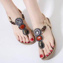Plain  Low Heeled  T Strap  Peep Toe  Beach Casual Sandals