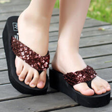 High Heeled  Peep Toe  Beach Casual Slippers