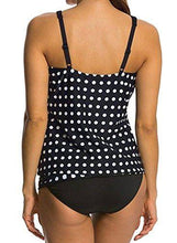 Polka Dot Peplum High Waisted Tankini Set