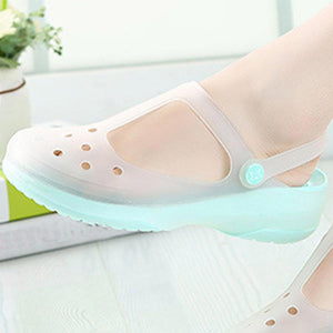 Hollow Out  Low Heeled  Ankle Strap  Round Toe  Casual Sandals