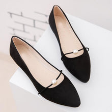 Plain  Flat  Velvet  Point Toe  Basic Flat & Loafers