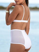 Hollow Out Plain  High-Rise Swimwear