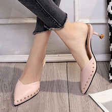 Plain  Stiletto  Mid Heeled  Point Toe  Date Party Pumps