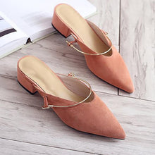 Elegant Pure Color Low Heel Mueller Shoes