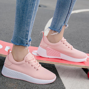 Plain  Low Heeled  Criss Cross  Round Toe  Casual Sport Sneakers