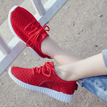 Hollow Out Plain  Flat  Criss Cross  Round Toe  Casual Sport Sneakers