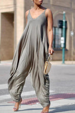 Casual Stretchy Spaghetti Strap Loose Jumpsuit