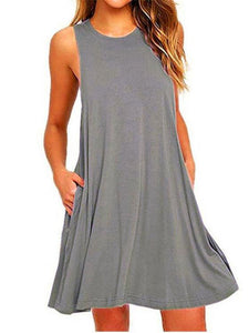 Fashion Sleeveless Packet Shift Dress