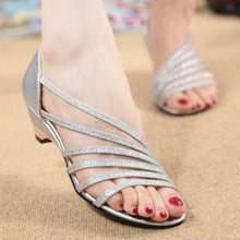 Plain  Chunky  Low Heeled  Peep Toe  Casual Date Sandals
