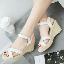 Plain  High Heeled  Ankle Strap  Peep Toe  Date Office Sandals
