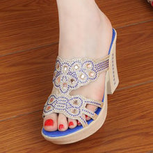 Hollow Out  High Heeled  Peep Toe  Casual Date Slippers