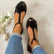 Plus Size Peep Toe Adjustable Buckle Sandals Woman Shoes